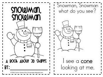 snowman snowman 3d shapes shapes pinterest school fun math classroom and kindergarten fun. Black Bedroom Furniture Sets. Home Design Ideas