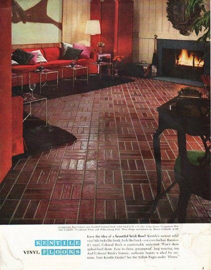 1965 Kentile Floors Ad Quot Beautiful Brick Floor Quot In 2019
