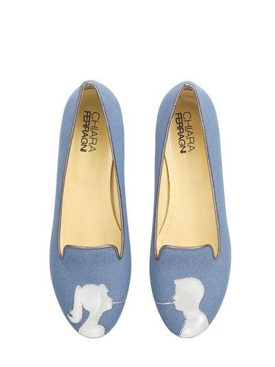 Le slippers estate 2014 di Zara, Dolce e Gabbana e Chiara Ferragni Chiara Ferragni slipper denim spaghetti kiss 145.00 euro