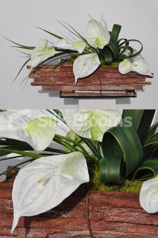 Modern Artificial Fresh Touch White Anthurium Floral Table Arrangement Modern Artificial Fresh Touch White Anthurium Floral Table Arrangement Haldia Table 2