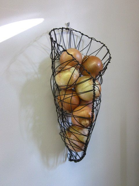 Wire Wall Hanging Baskets wire basket wall hanging onion | beautiful, wire baskets and by