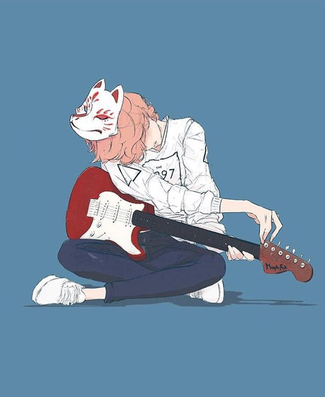 Girl Guitar Character Art Anime Music Cute Drawings