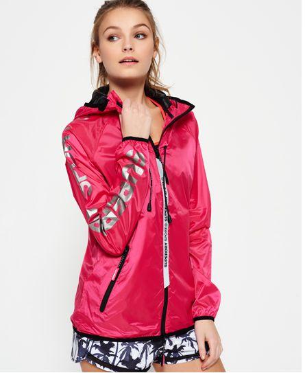 Superdry jacke neon pink