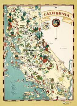 California Map Wrapping Paper   Shopping   Pinterest   Wrapping ...