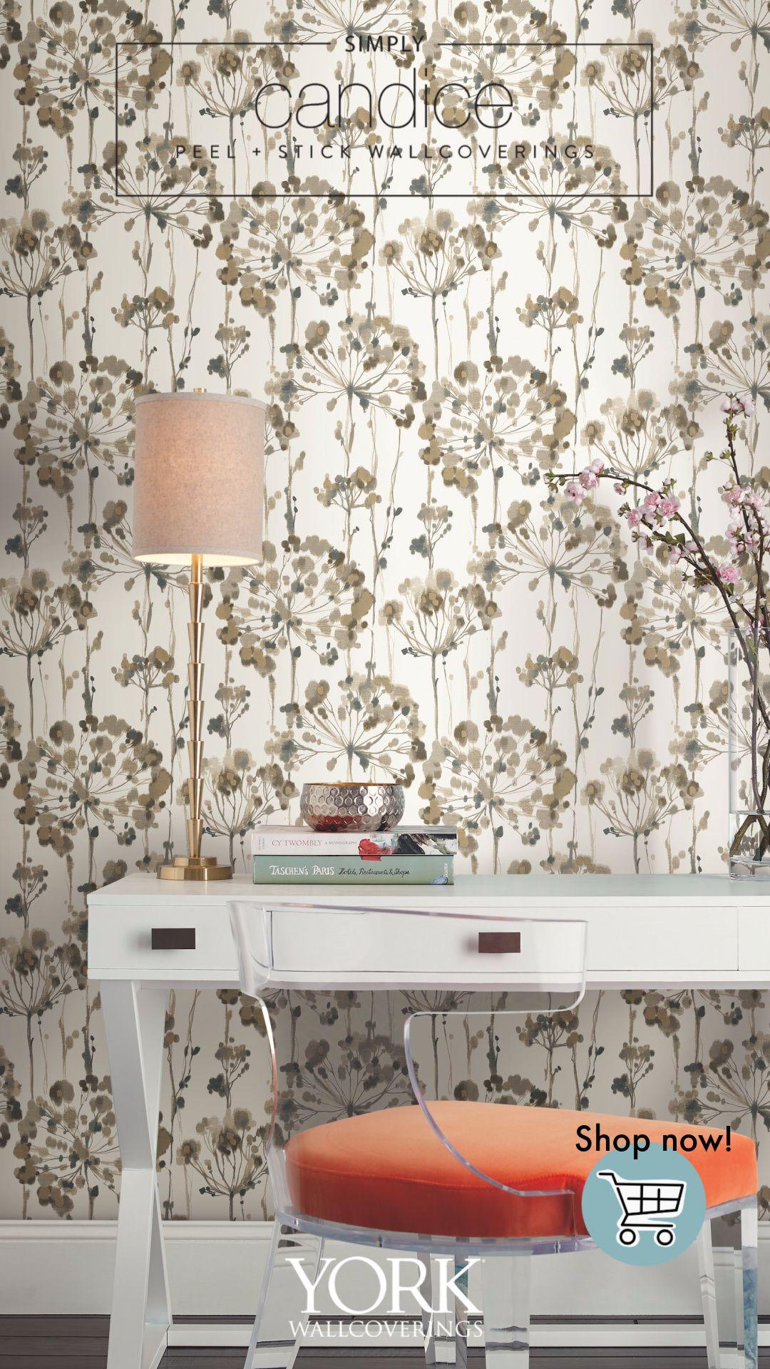 Flourish Premium Peel And Stick Wallpaper Peel And Stick Wallpaper Room Visualizer Removable Wallpaper