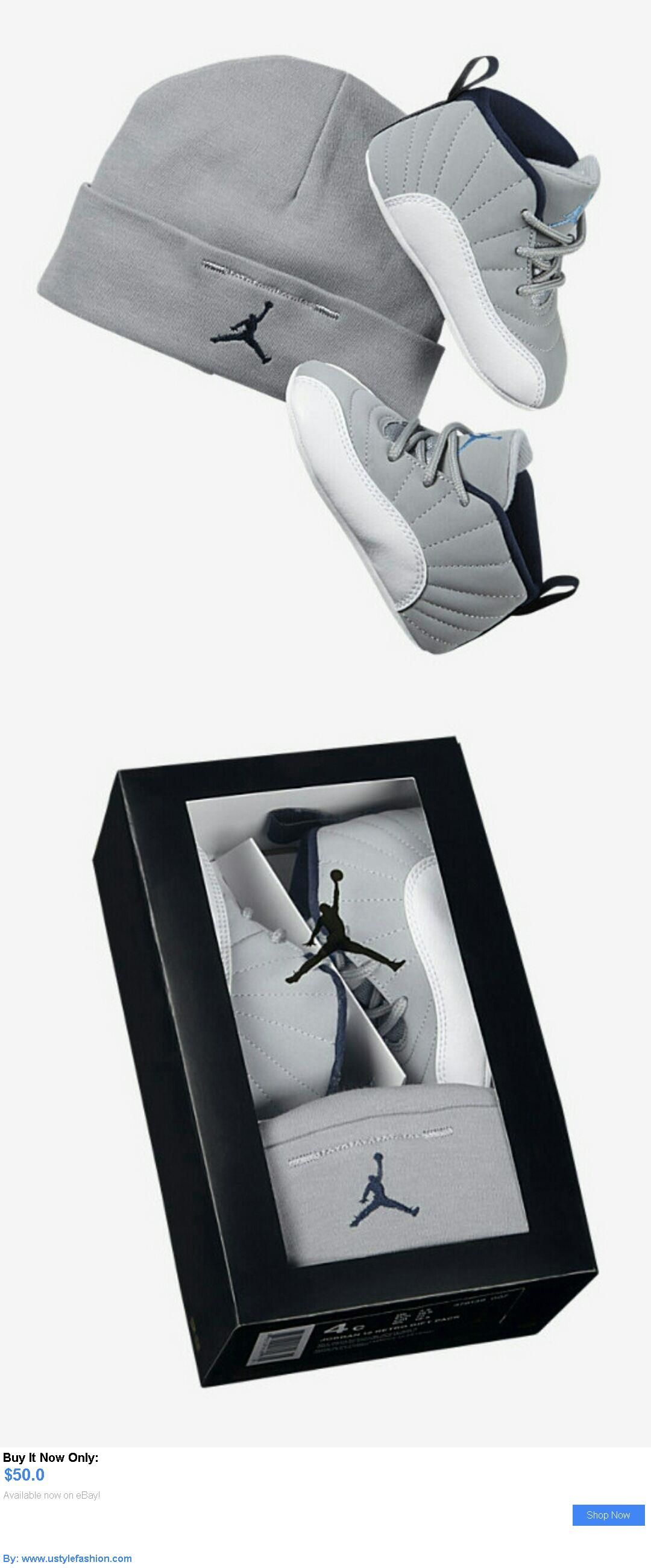 7dea2a73638b3 Baby girls clothing shoes and accessories  Air Jordan 12 Retro 378139-007 Infant  Gift Pack Wolf Grey University Blue Navy BUY IT NOW ONLY   50.0 ...