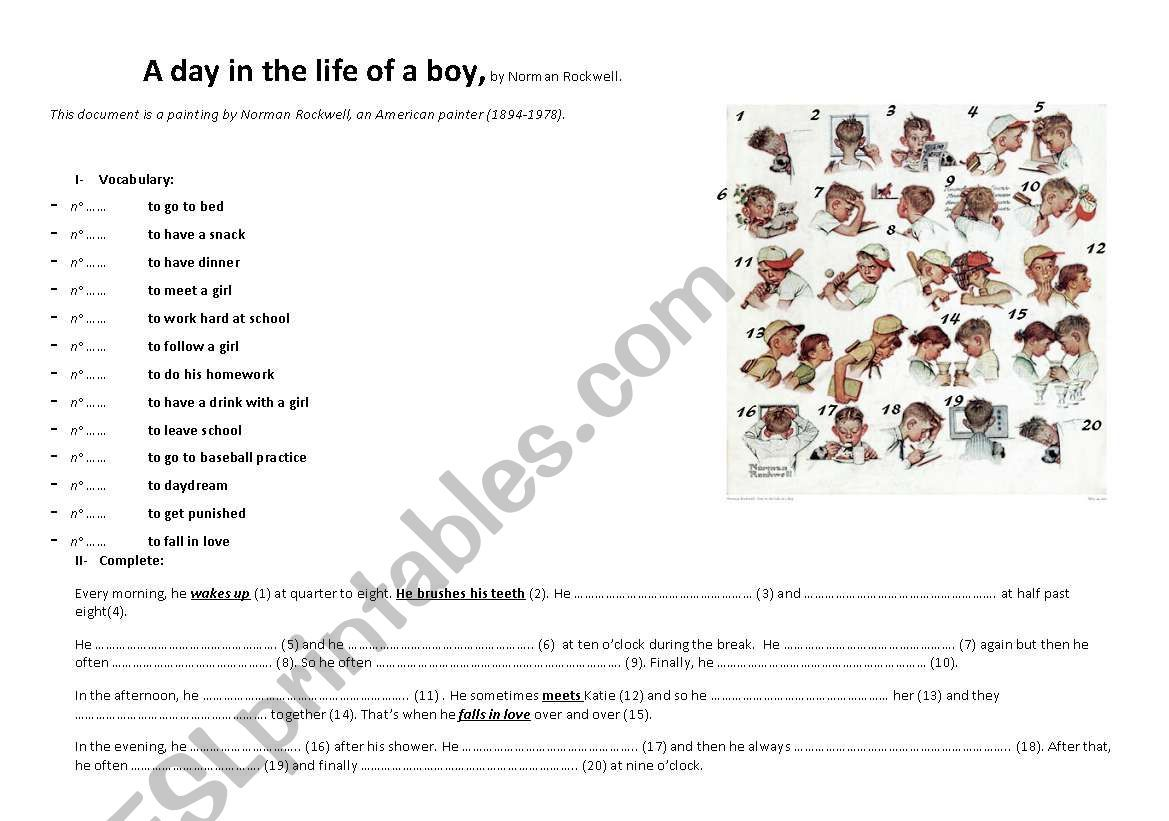 Daily Routine A Day In The Life Of A Boy By Norman