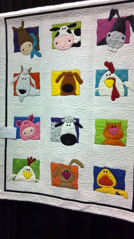 Animal Applique Quilt Animal Whimsy Quilt Pattern By Amy
