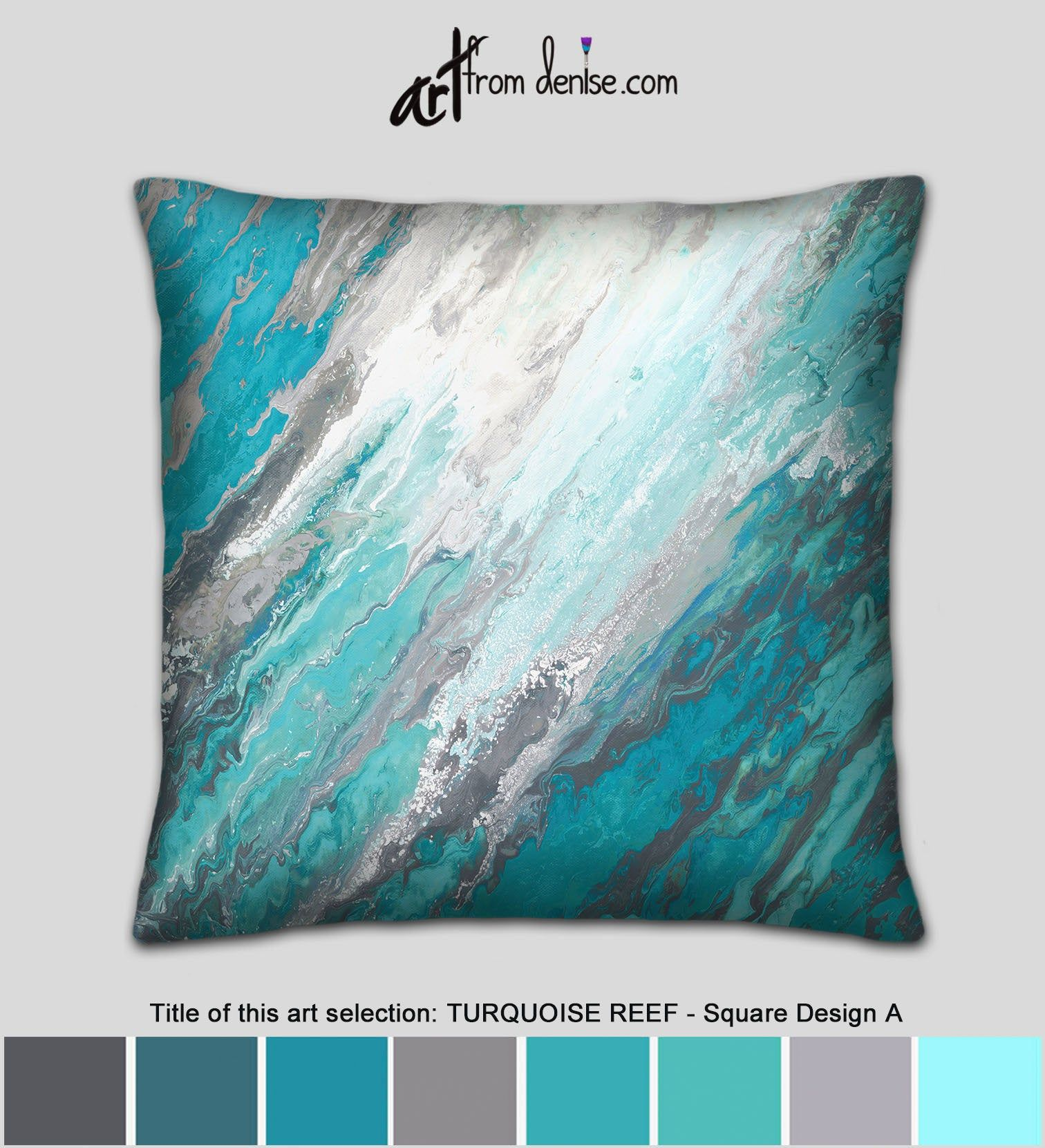 Teal Gray And Turquoise Throw Pillows Or Covers Aqua Blue Etsy Turquoise Throw Pillows Bed Pillows Decorative Throw Pillows