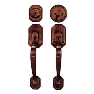 Cerberus Entry Hand Set Door Lock Lever Antique Copper Finish Door ...