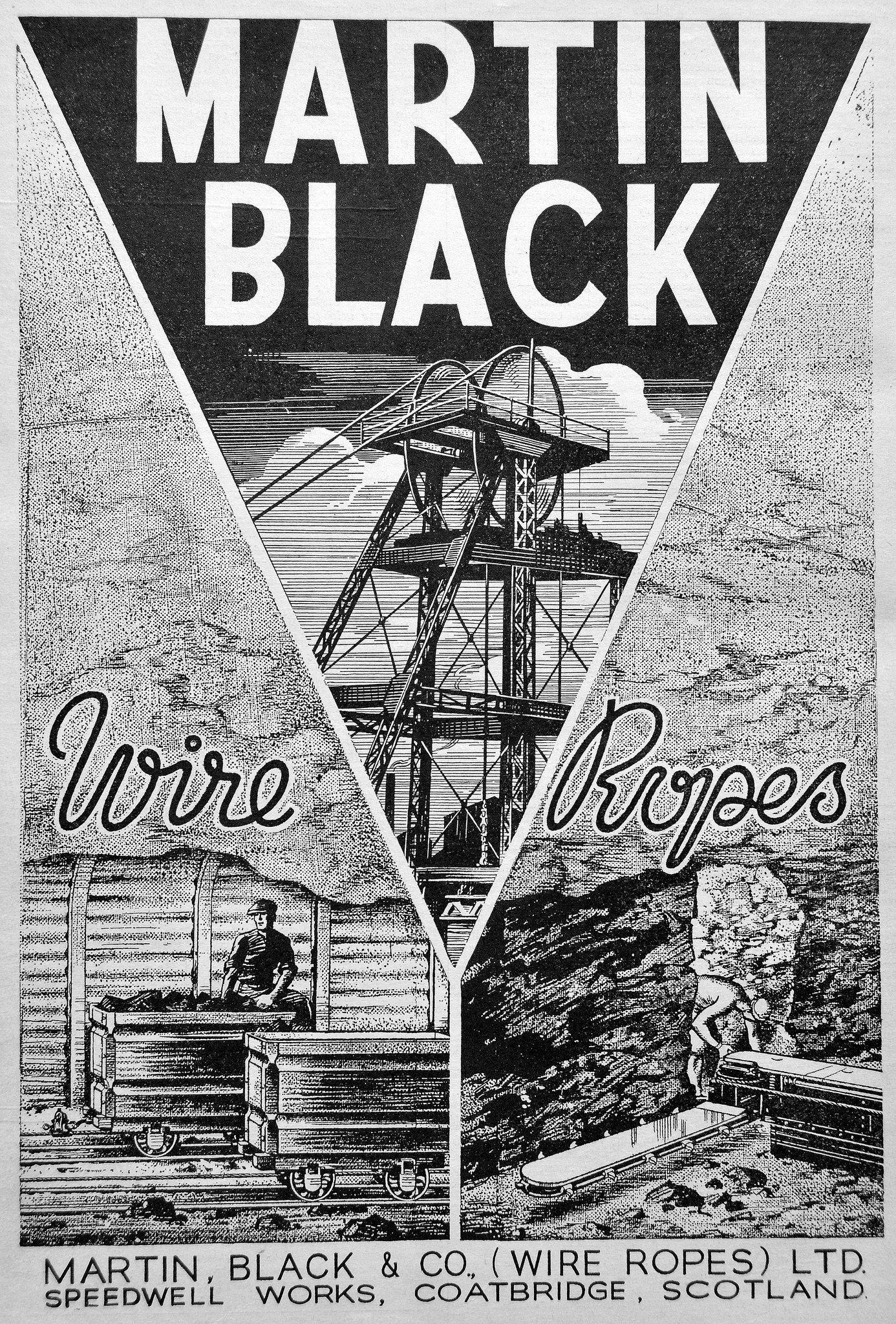 Martin Black Wire Ropes Coatbridge Scotland 1942 Coatbridge Scotland Rope