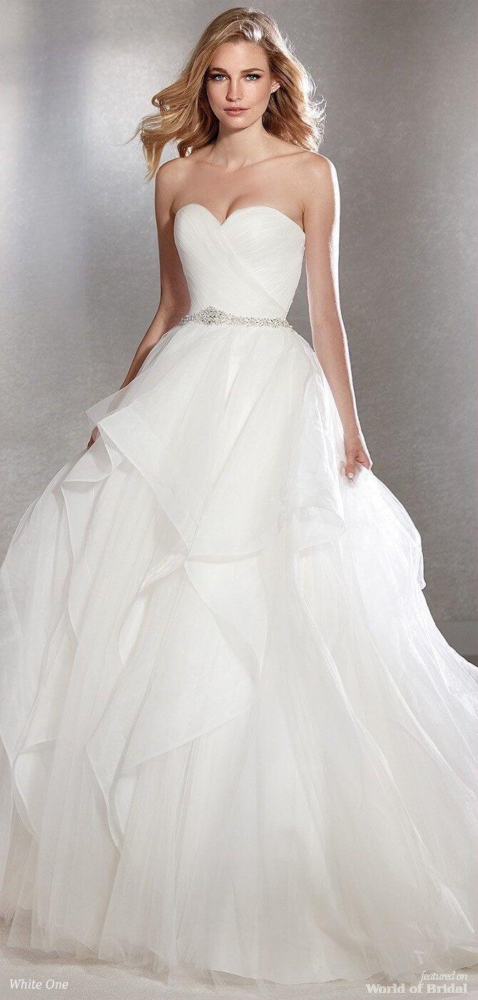 White one wedding dresses trouwjurk pinterest ballgown