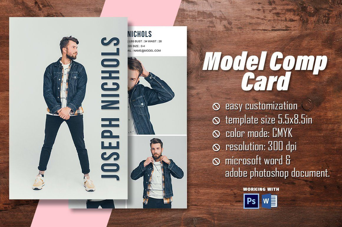 Modeling Comp Card Model Comp Card Template Fashion Model Etsy Model Comp Card Card Model Photoshop