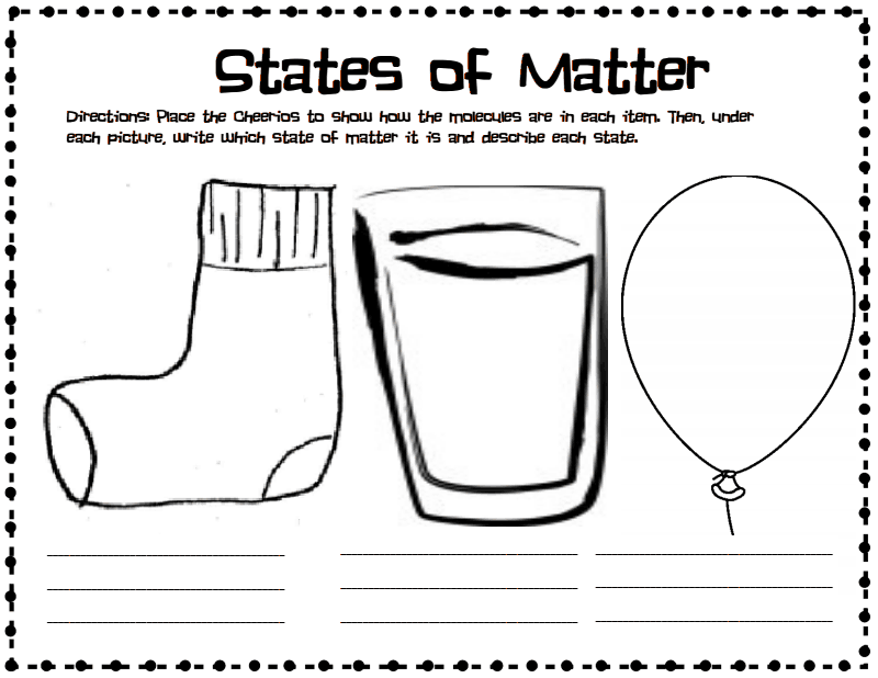 state of matter cheeriospdf Google Drive – Middle School Science Worksheets Pdf