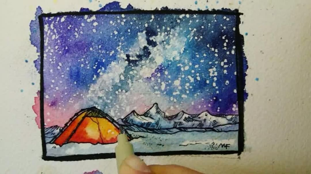 Nikki Frumkin Timelapse Of Starry Sky Painting Sky Painting