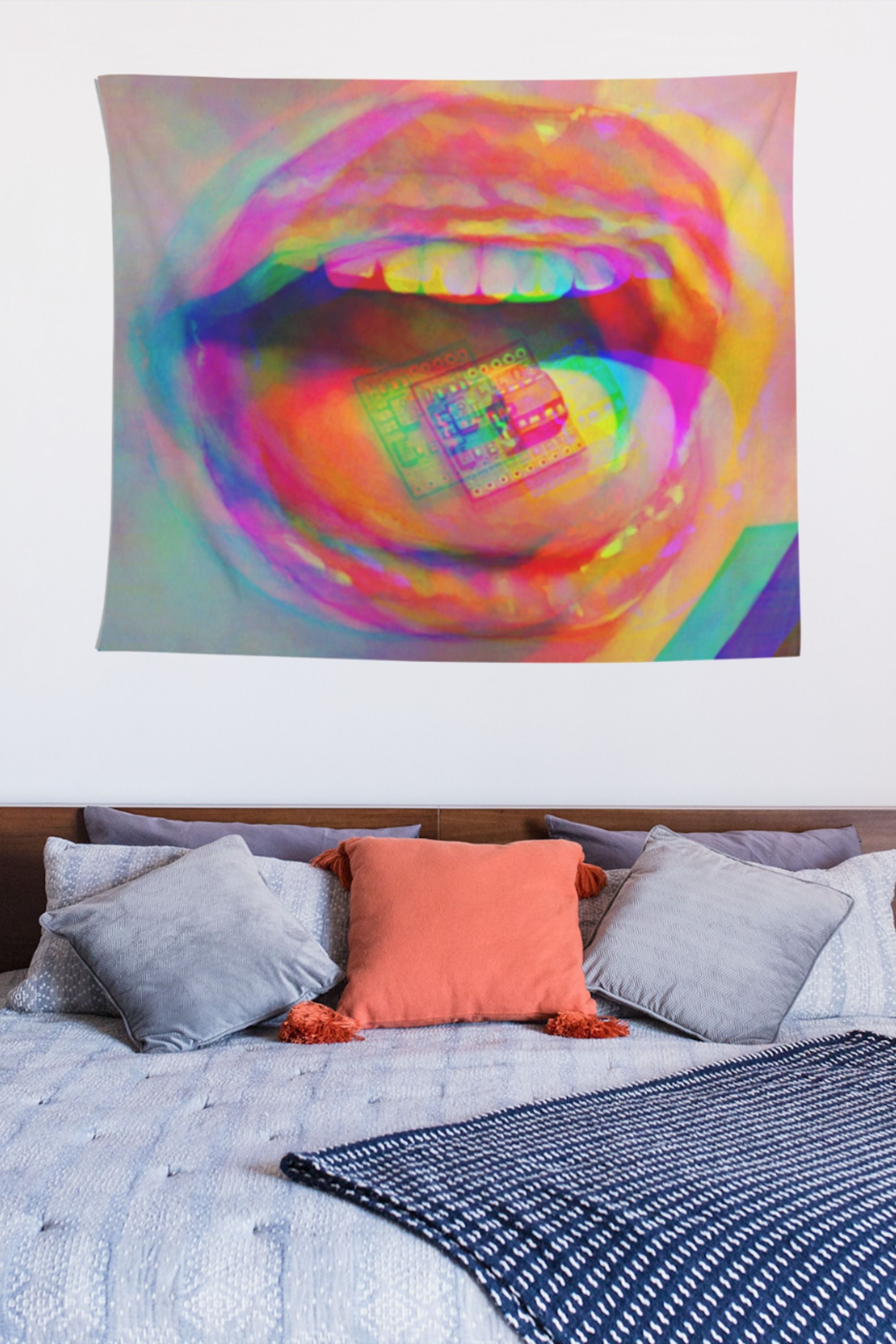 Psychedelic Scenery Tapestry Hippie Room Wall Hanging Tapestry Art Decor Gift