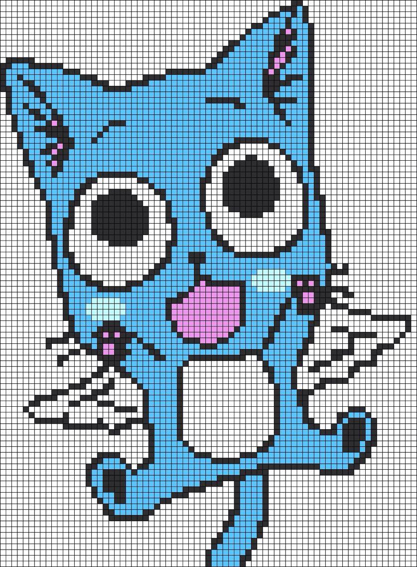 Happy From Fairy Tail Dessin Sur Petit Carreaux Dessin Petit Carreau Pixel Art A Imprimer