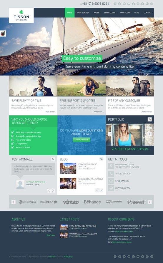 Tisson Premium WordPress Theme http://themeforest.net/item/tisson-premium-wordpress-theme/4891338?ref=wpaw #web #design #wordpress