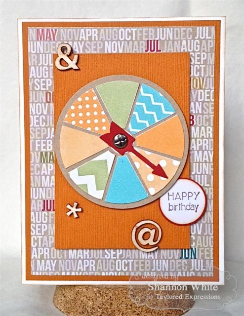 March SOTM Happy Birthday Spin Card by Shannon White #Cardmaking, #StampoftheMonth, #Birthday, http://tayloredexpressions.com/kits.html