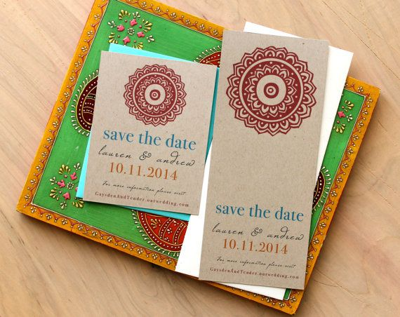 Modern Indian Wedding Save The Dates Unique Save The Date Etsy Wedding Saving Wedding Save The Dates Save The Date Cards
