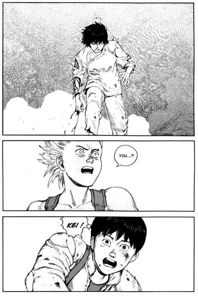 Manga Kaneda Kei Vs Tetsuo Akira Akira Manga Akira Anime Akira