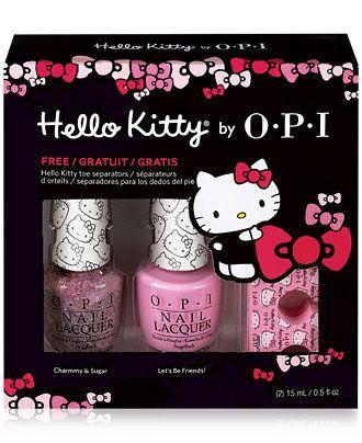OPI Hello Kitty® Hello Pretty Pedi Set - Makeup - Beauty - Macy's