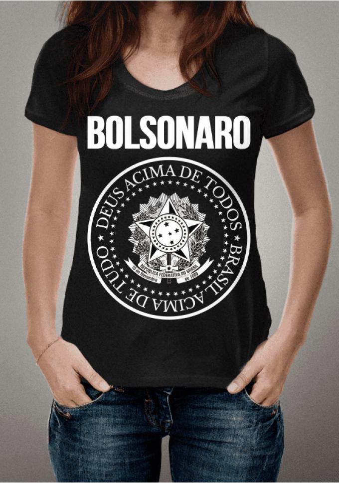 18b4af721 Camiseta Bolsonaro: Brasil Acima de Tudo, Deus Acima de Todos. Preta ...