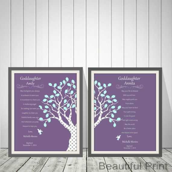 Baby Girls Twins Christening Gift Baptism Gift by BeautifulPrint