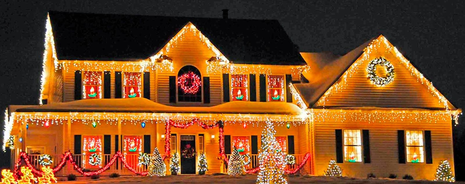 Beautiful outdoor christmas decorations - Beautiful Christmas Lights On Houses Lights Christmas Lights Wallpaper Christmas Lights On Houses