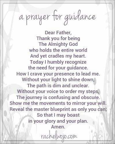 Prayers for Guidance | Walk By Faith | Prayer for guidance