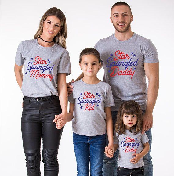 8694f668 Star Spangled, Star Spangled Shirt, Fourth of July Shirt, 4th of July Shirts,  4th of July Family, UNISEX