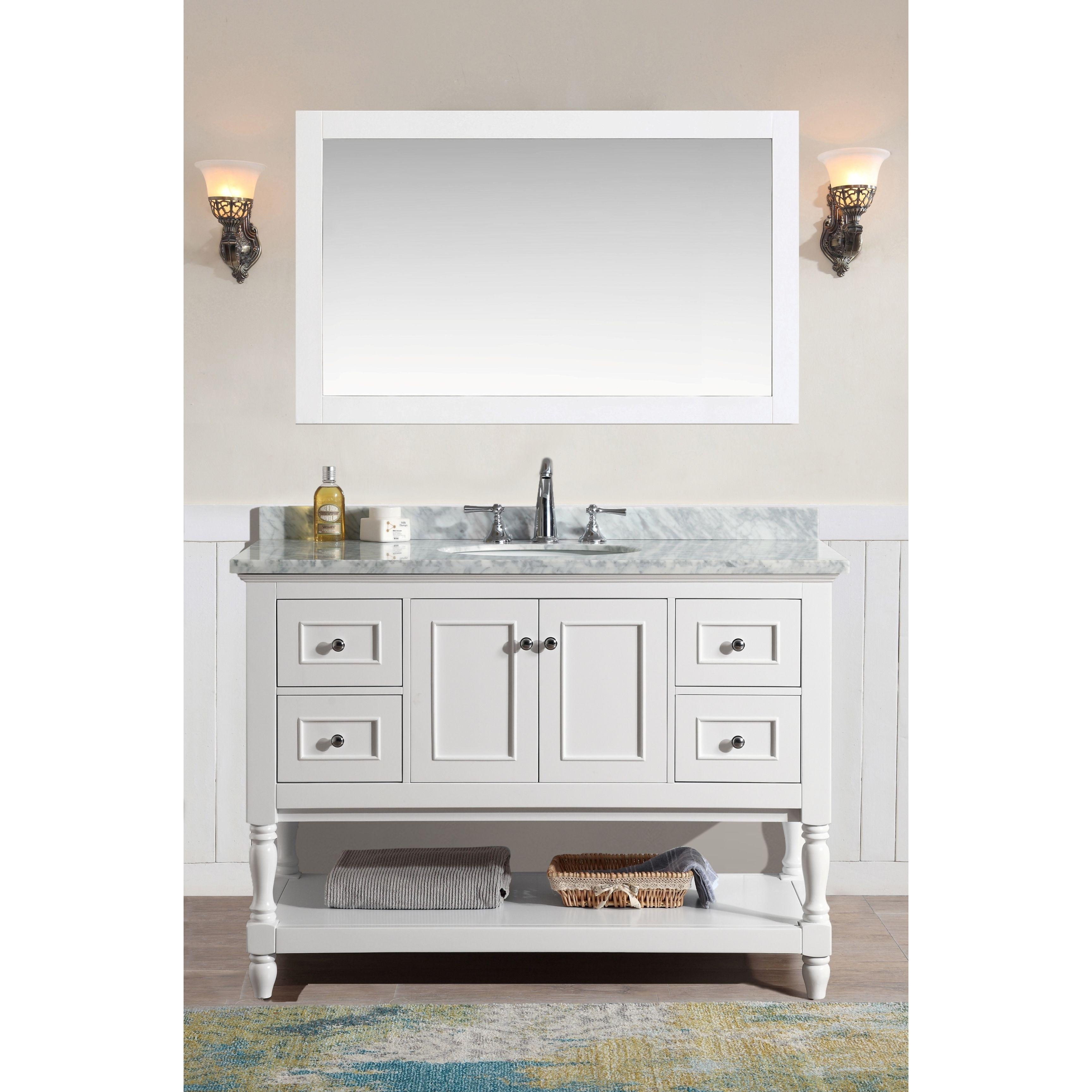 Cape Cod 48 Bathroom Vanity White Finish White Vanity Bathroom