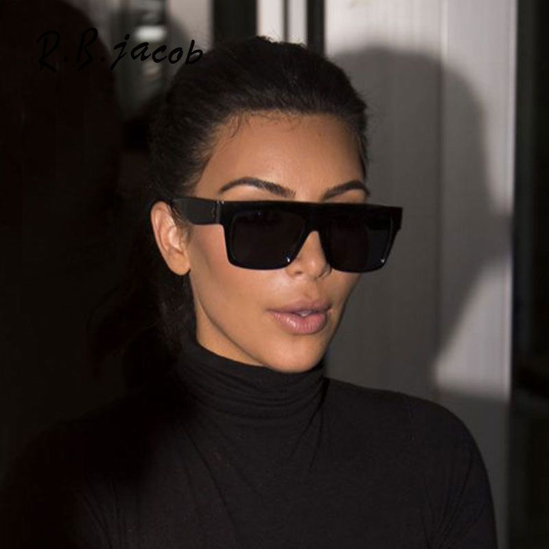 f7bdd8a512d  9.98 - Kardashian Sunglasses Kim Black Fashion Top S Women Square Aviator  Celine Design  ebay  Fashion
