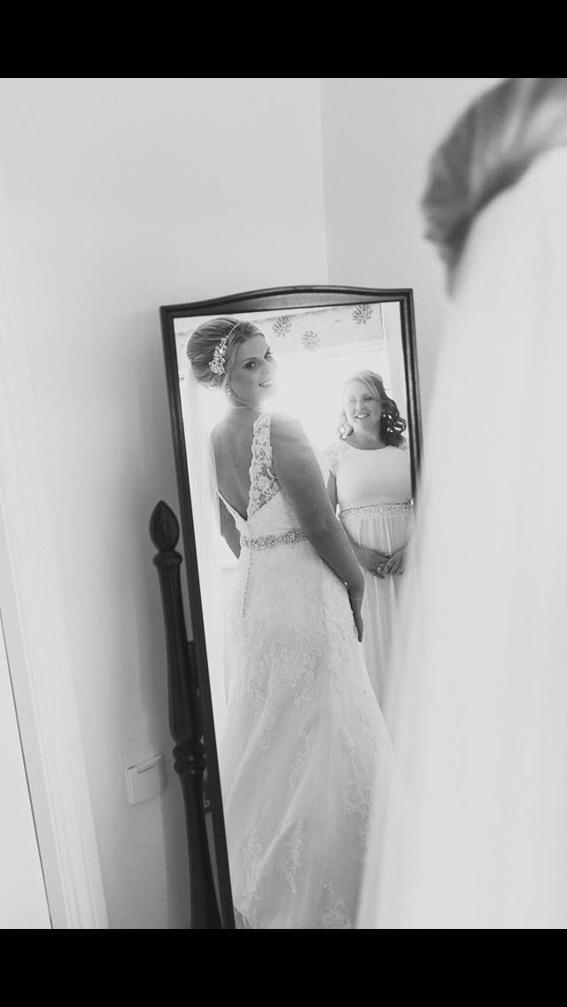 Look back.Loved the back of my Sophia Tolli Miri dress
