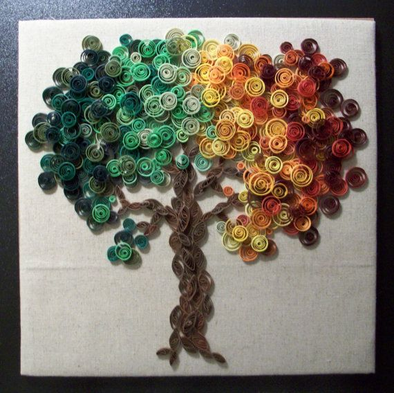 Paper Quilled Tree - Wall Art | Quilling | Pinterest ...