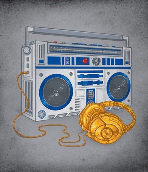 This R2-D2/C3PO boombox and headphones are both funky fresh and geektastic.