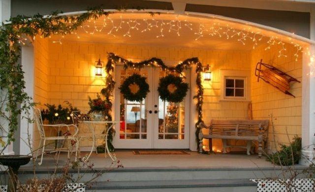 C mo decorar la puerta de tu casa para navidad http www - La casa decoracion ...