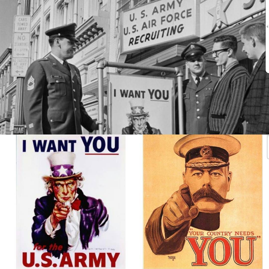 """""""I want you"""" #poster designed by Flagg in its 100 anniversary. Artist was inspired by #British poster to recruit #youngmen for the First World War and used #unclesam and  #fingerpointing for a direct message #artsgain"""