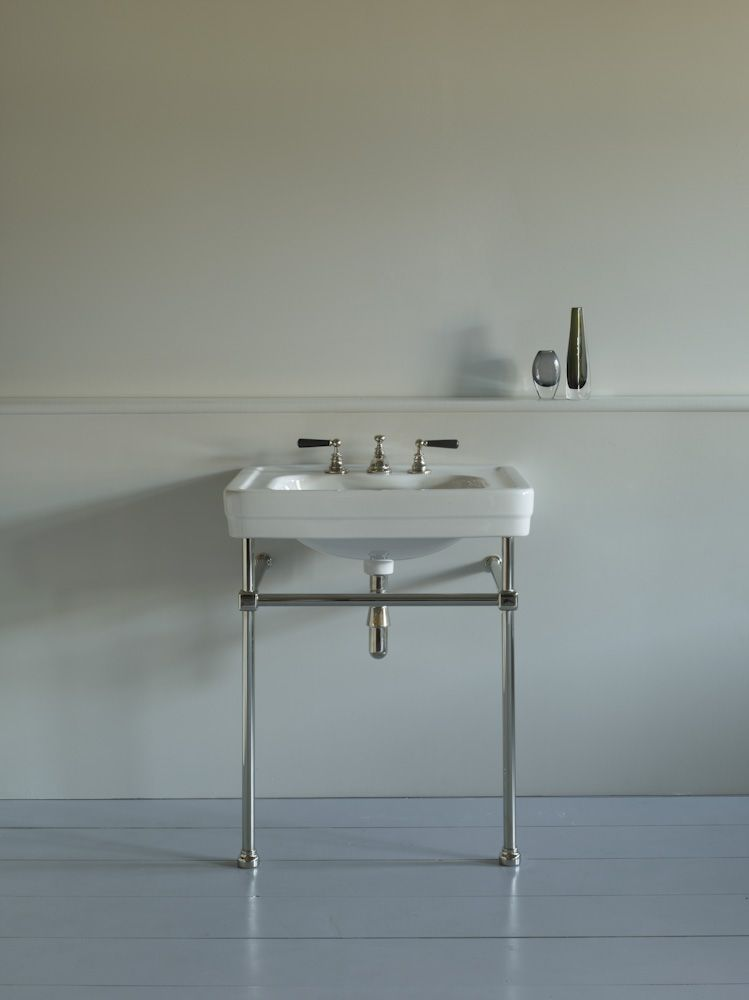 Neo Classica Basin on a polished nickel cube jointed frame. Shown ...