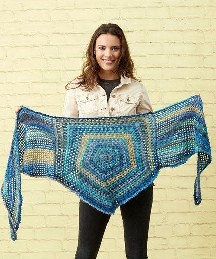 Classy Pentagon Shawl | Crochet | Pinterest | Tücher, Dreieckstuch ...