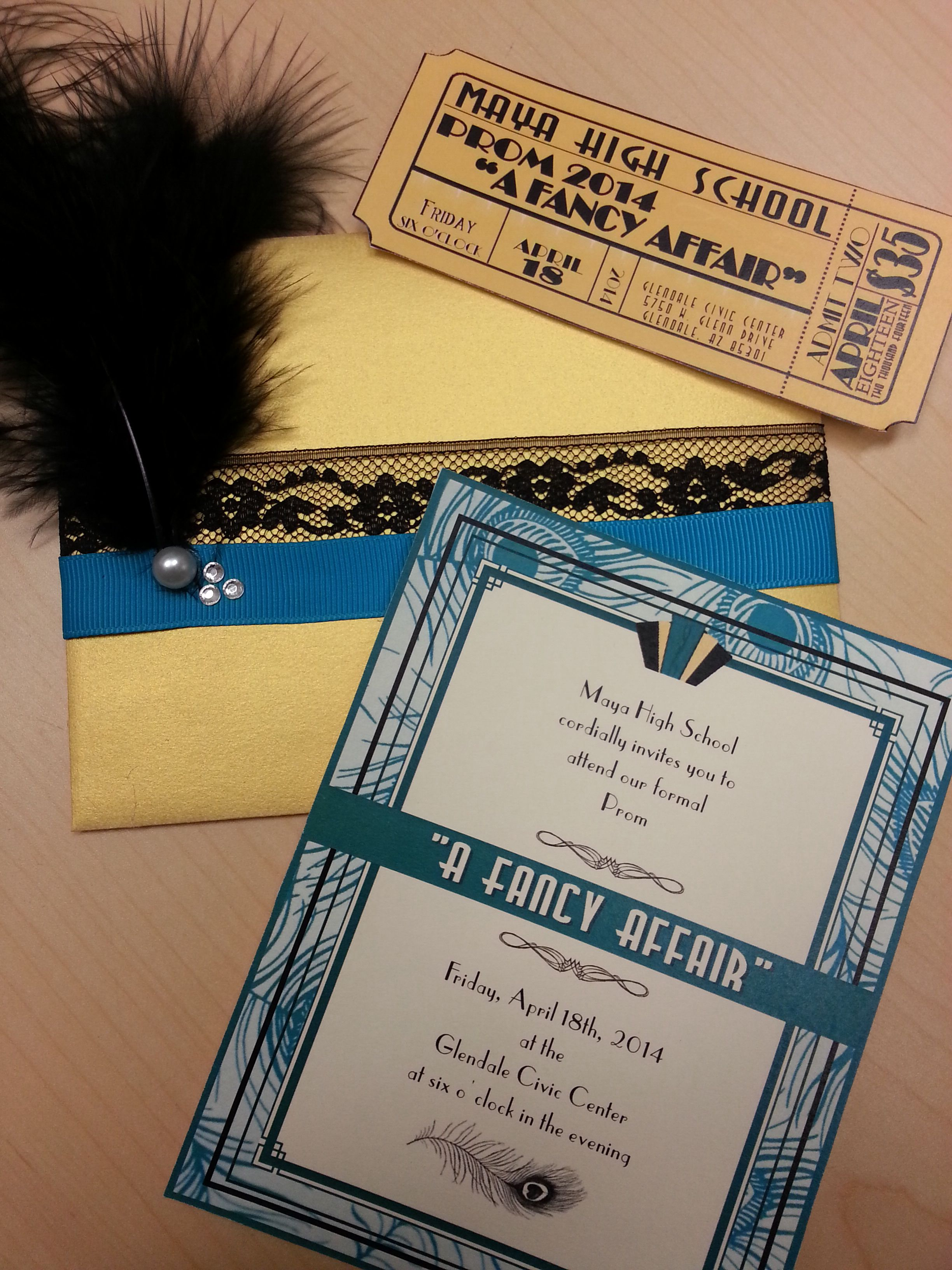roaring 20s prom invites and tickets on the cheap i love the