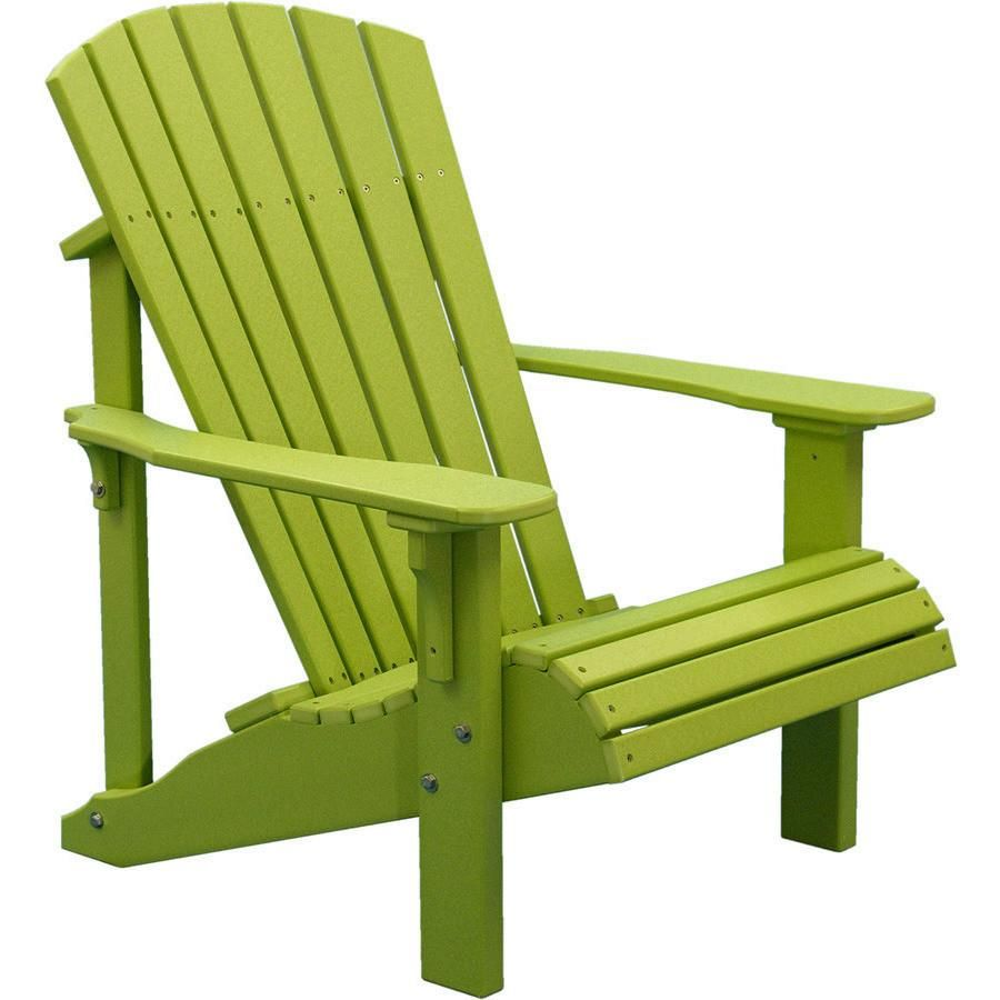 Luxcraft Recycled Plastic Deluxe Adirondack Chair Green