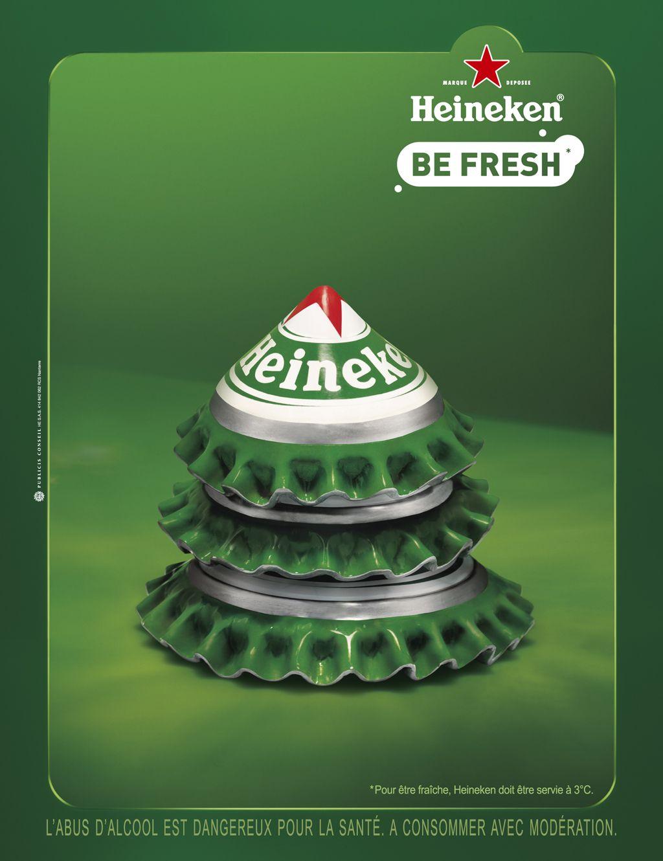 Heineken Feliz Navidad.Heineken Be Fresh Advert Postcards Posters Creative