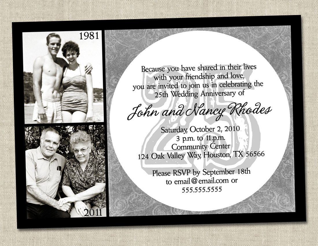 50th anniversary invitation - Golden gold anniversary wedding party ...