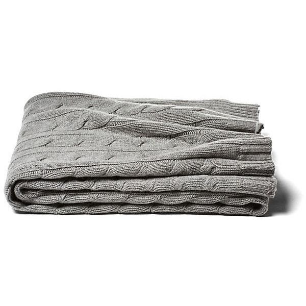 Cable Knit Cashmere Blend Throw Gray Throws 219 Liked On Polyvore