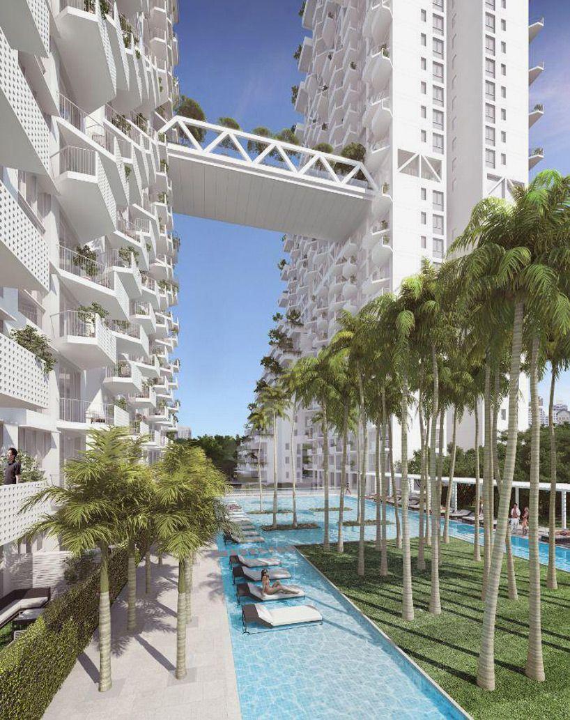 moshe safdie designs fractalbased sky habitat for