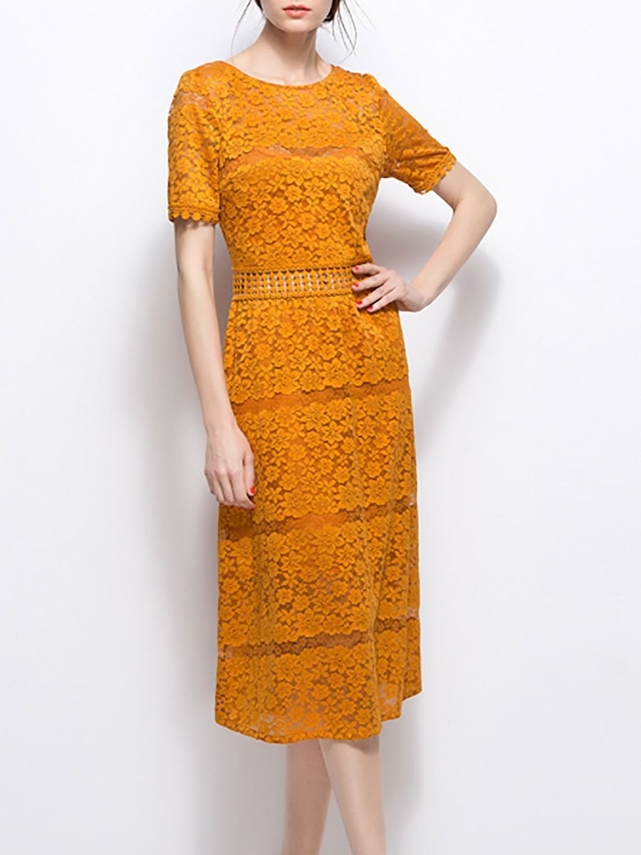 Elegant Nylon Lace Dress