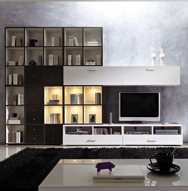 Wohnwand Straight Weiss Anthrazit Wohnzimmermobel Pinterest