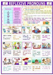 english teaching worksheets reflexive pronouns aulas pinterest worksheets english and. Black Bedroom Furniture Sets. Home Design Ideas