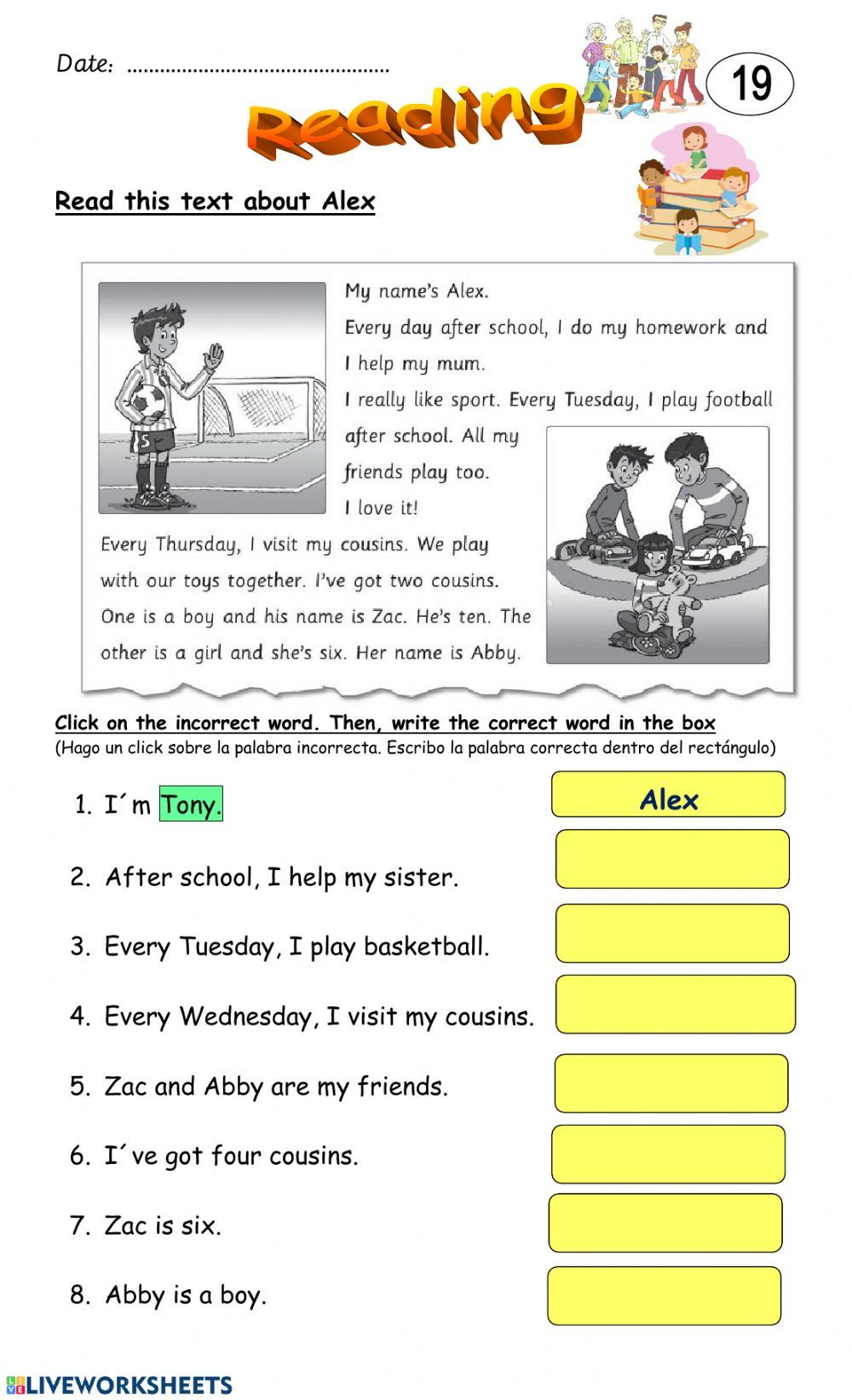Reading comprehension interactive and downloadable